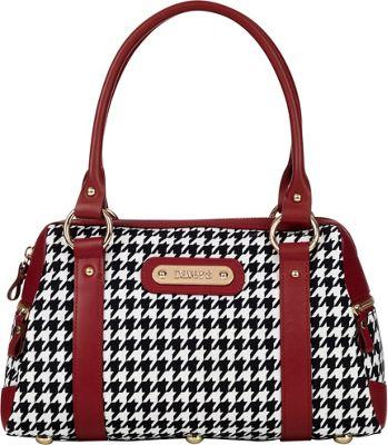 Davey's Doctor Bag Satchel Houndstooth - Davey's Fabric Handbags