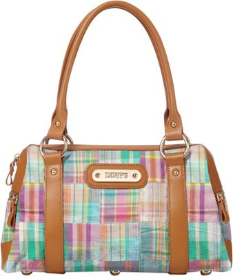 Davey's Doctor Bag Satchel Multi Patchwork Plaid - Davey's Fabric Handbags