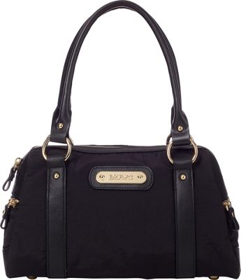 Davey's Doctor Bag Satchel Black - Davey's Fabric Handbags
