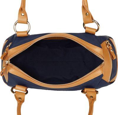Davey's Doctor Bag Satchel Red/Black Leather - Davey's Fabric Handbags