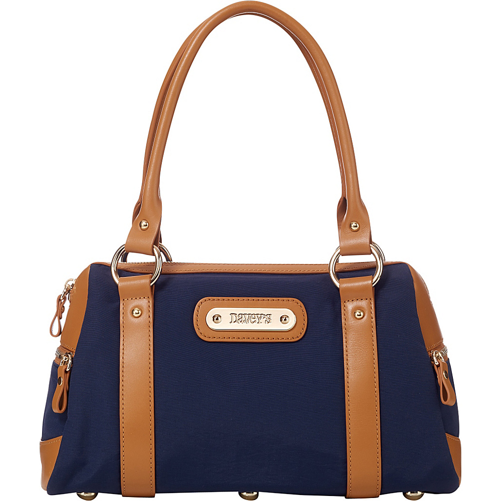 Davey s Doctor Bag Satchel Navy Davey s Fabric Handbags