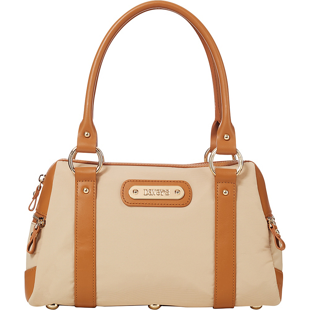 Davey s Doctor Bag Satchel Khaki Davey s Fabric Handbags