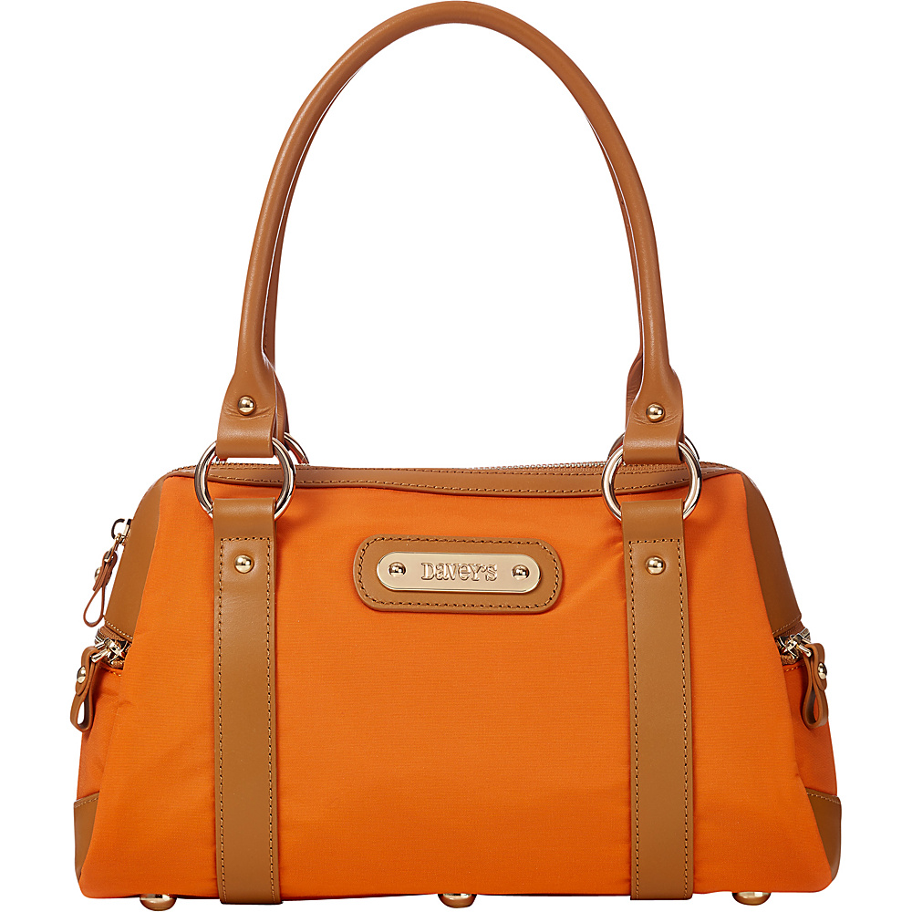 Davey s Doctor Bag Satchel Burnt Orange Davey s Fabric Handbags