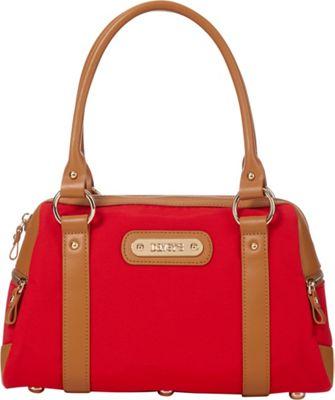 Davey's Doctor Bag Satchel Red - Davey's Fabric Handbags
