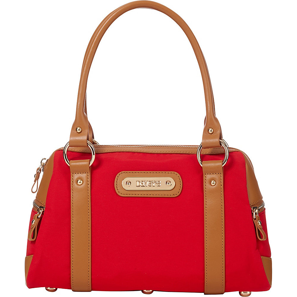 Davey s Doctor Bag Satchel Red Davey s Fabric Handbags