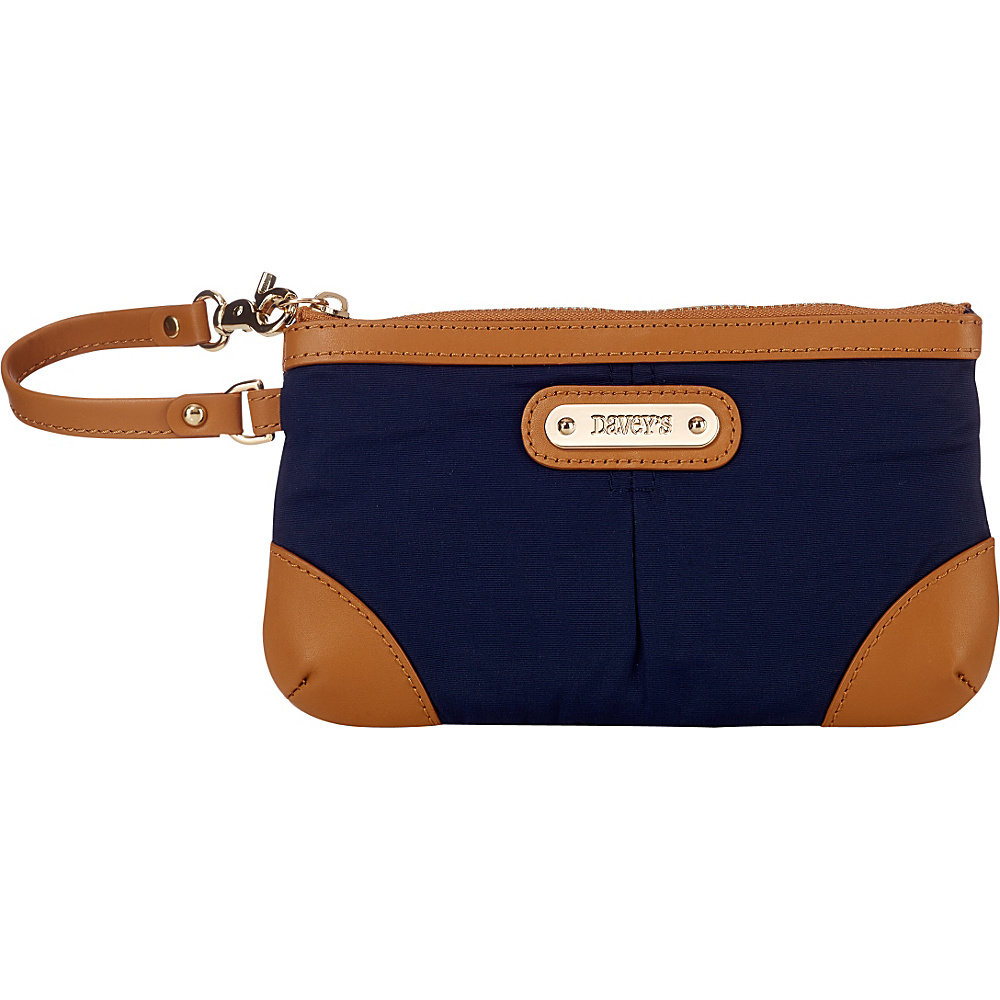 Davey s Medium Wristlet Navy Davey s Fabric Handbags