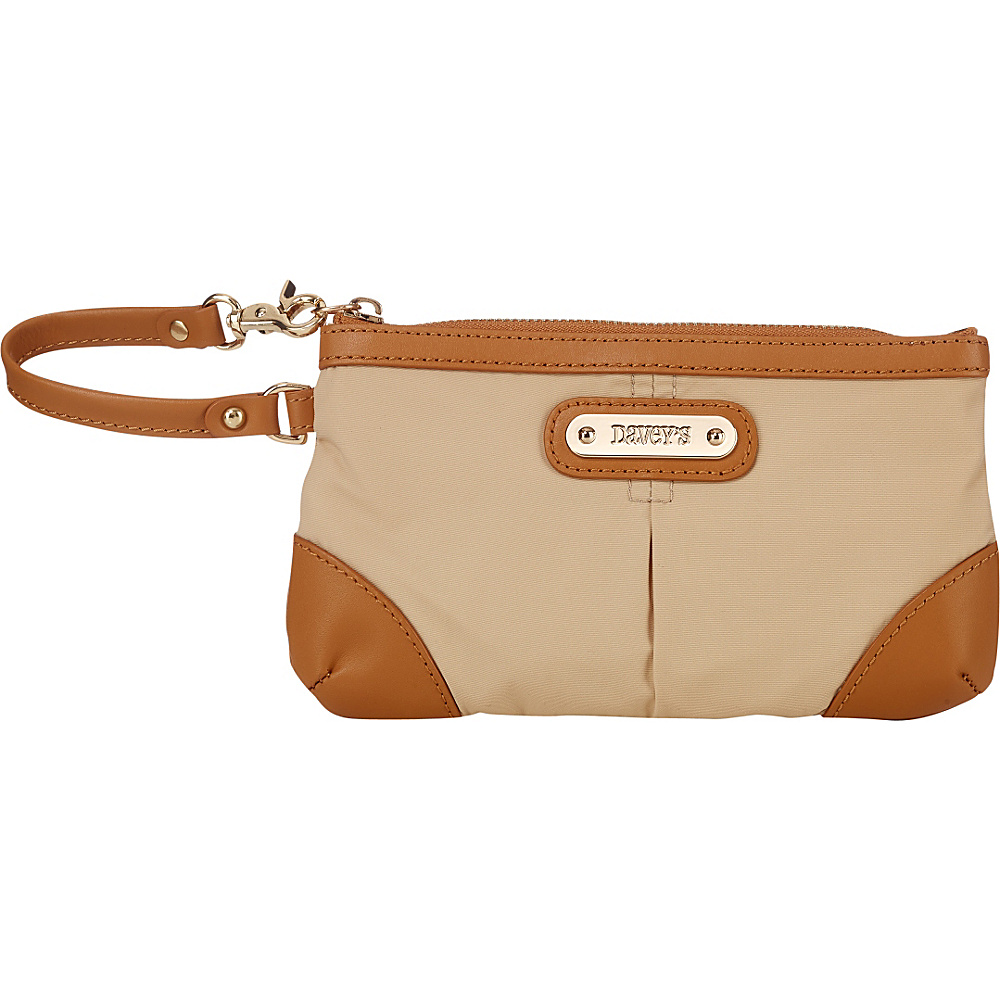Davey s Medium Wristlet Khaki Davey s Fabric Handbags