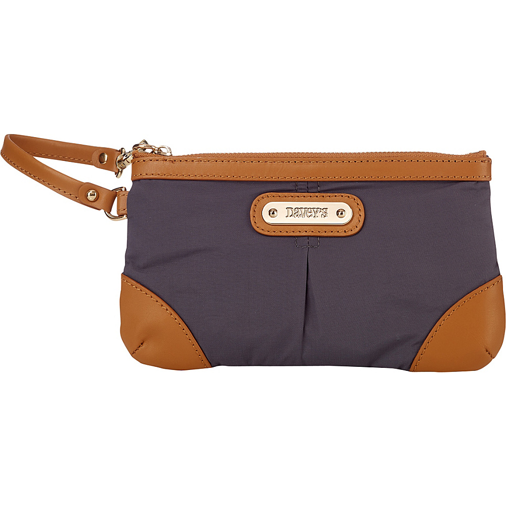 Davey s Medium Wristlet Grey Davey s Fabric Handbags