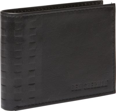 Ben Sherman Luggage Holland Park Leather Six Pocket RFID Billfold Wallet Black - Ben Sherman Luggage Men's Wallets