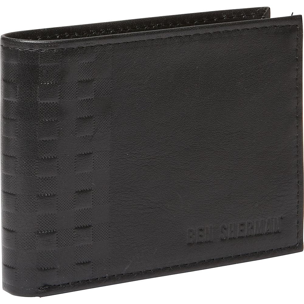 Ben Sherman Luggage Holland Park Leather Six Pocket RFID Billfold Wallet Black Ben Sherman Luggage Men s Wallets
