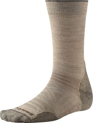 Smartwool PhD Outdoor Light Crew M - Oatmeal - Large - Smartwool Men's Legwear/Socks