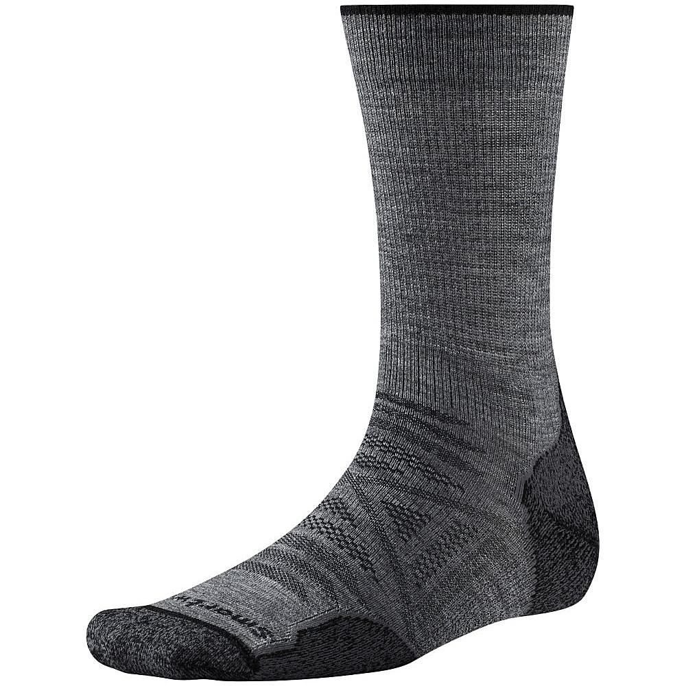Smartwool PhD Outdoor Light Crew Medium Gray Medium Smartwool Men s Legwear Socks
