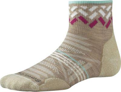 Smartwool Womens PhD Outdoor Light Pattern Mini L - Oatmeal - Large - Smartwool Women's Legwear/Socks