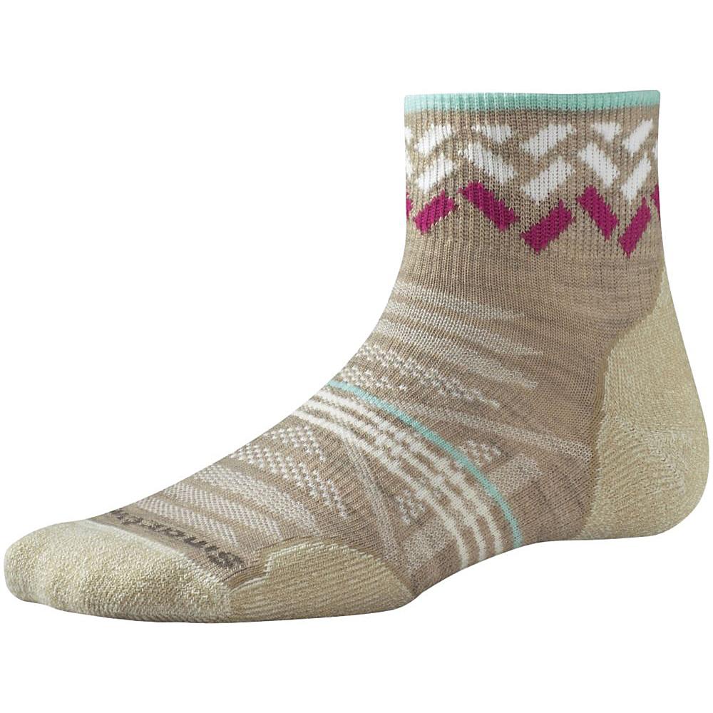 Smartwool Womens PhD Outdoor Light Pattern Mini Oatmeal Large Smartwool Women s Legwear Socks