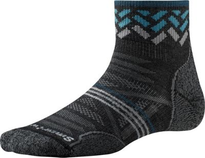 Smartwool Womens PhD Outdoor Light Pattern Mini S - Charcoal - Large - Smartwool Women's Legwear/Socks