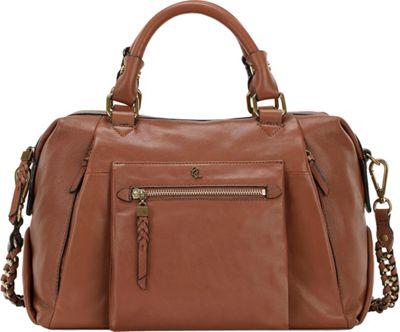 Elliott Lucca Cosette Satchel Cognac Cow Valencia - Elliott Lucca Designer Handbags