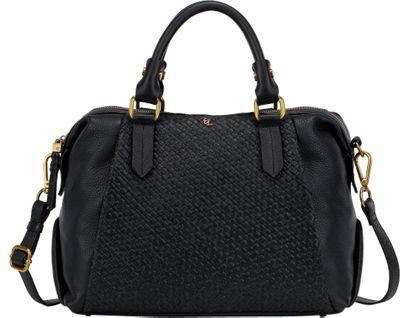 Elliott Lucca Cosette Satchel Black Intreccio - Elliott Lucca Designer Handbags