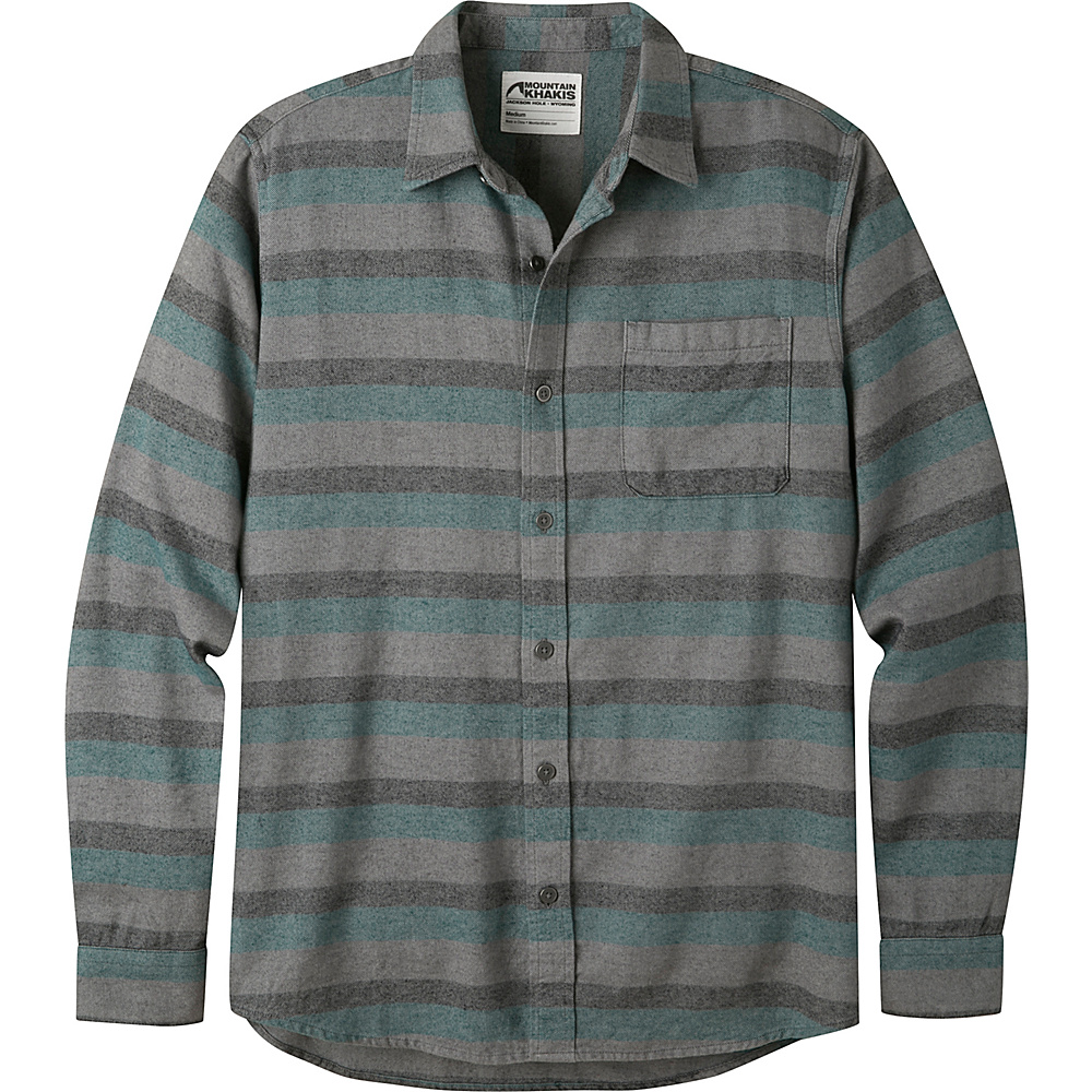 Mountain Khakis Fall Line Flannel Shirt M - Deep Jade - Mountain Khakis Mens Apparel - Apparel & Footwear, Men's Apparel