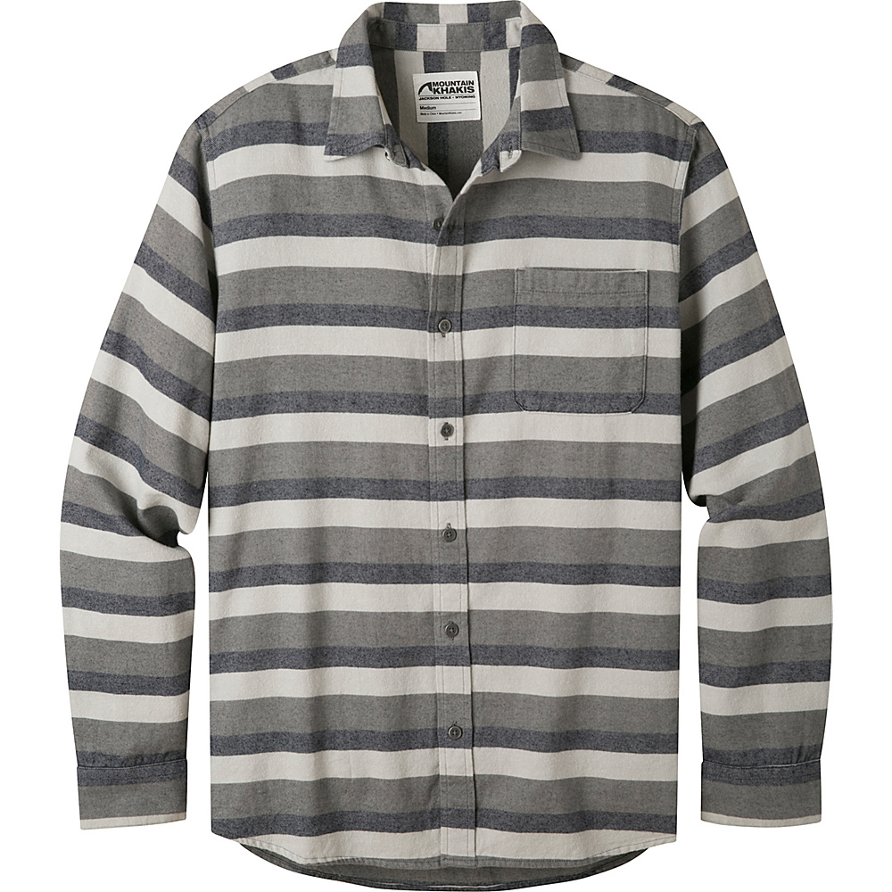 Mountain Khakis Fall Line Flannel Shirt L - Navy - Mountain Khakis Mens Apparel - Apparel & Footwear, Men's Apparel