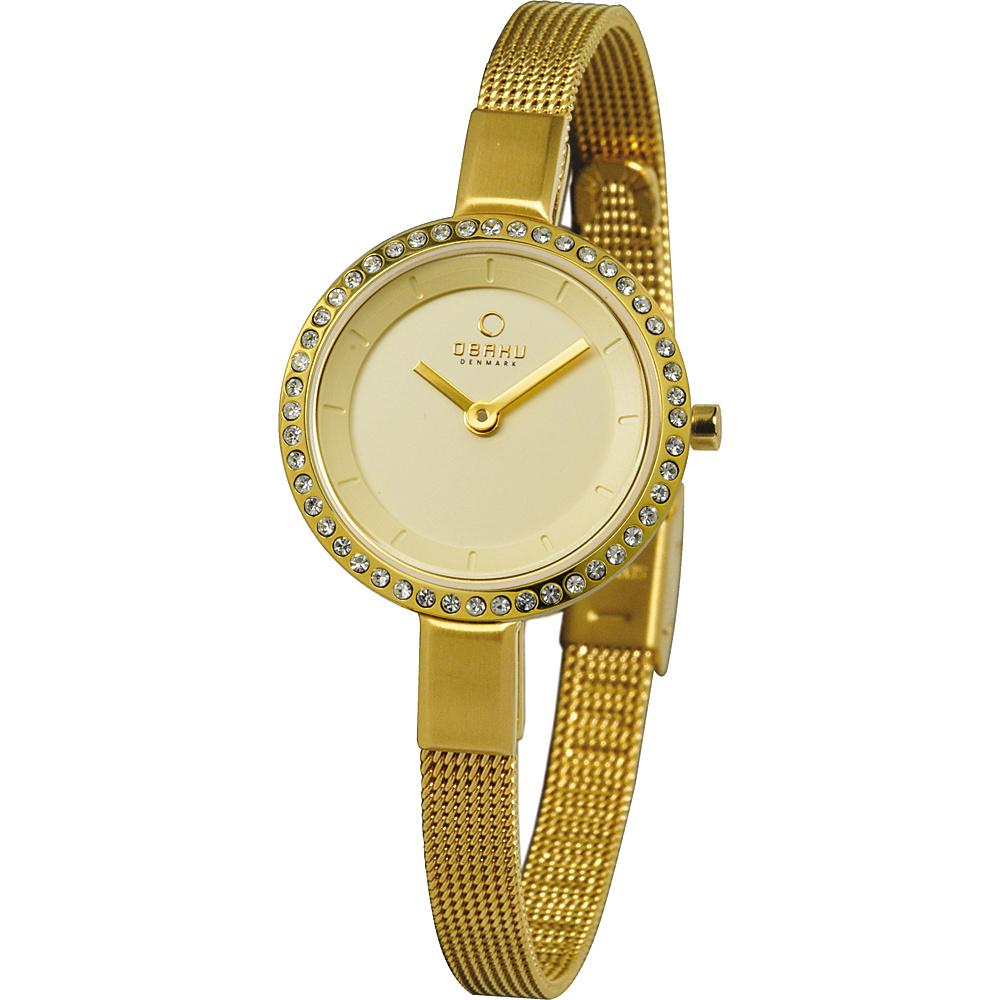 Obaku Watches Womens Stainless Steel Mesh Watch Gold Gold Obaku Watches Watches
