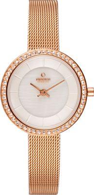 Obaku Watches Womens Stainless Steel Mesh Watch Rose Gold/White - Obaku Watches Watches