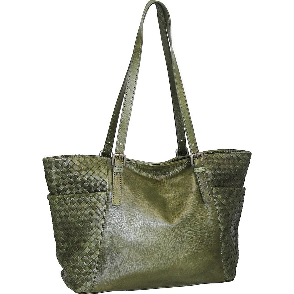 Nino Bossi Hibiscus Bud Tote Green - Nino Bossi Leather Handbags - Handbags, Leather Handbags