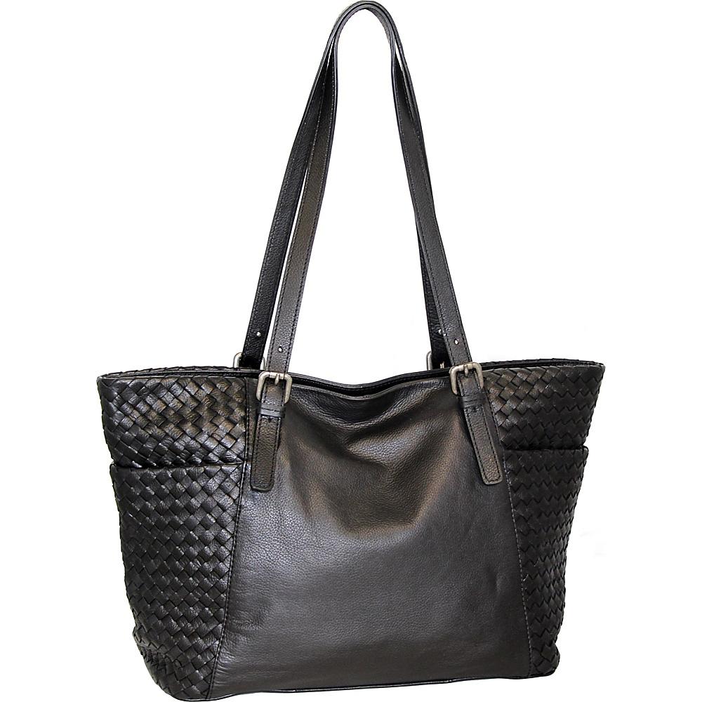 Nino Bossi Hibiscus Bud Tote Black - Nino Bossi Leather Handbags - Handbags, Leather Handbags