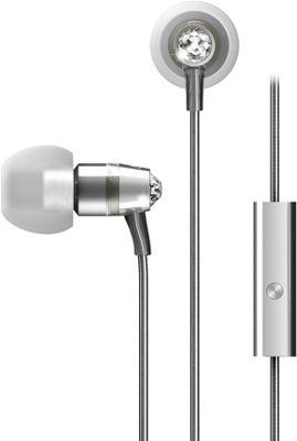 MEE Audio Crystal In-Ear Headphones with Microphone Silver - MEE Audio Headphones & Speakers