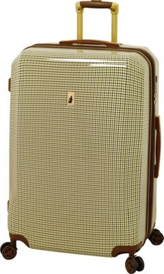 London Fog Cambridge 29 inch Expandable Hardside Spinner Olive Plaid - London Fog Softside Checked