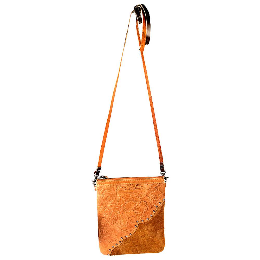 Montana West Leather Hair On Western Crossbody Bag Brown Montana West Messenger Bags