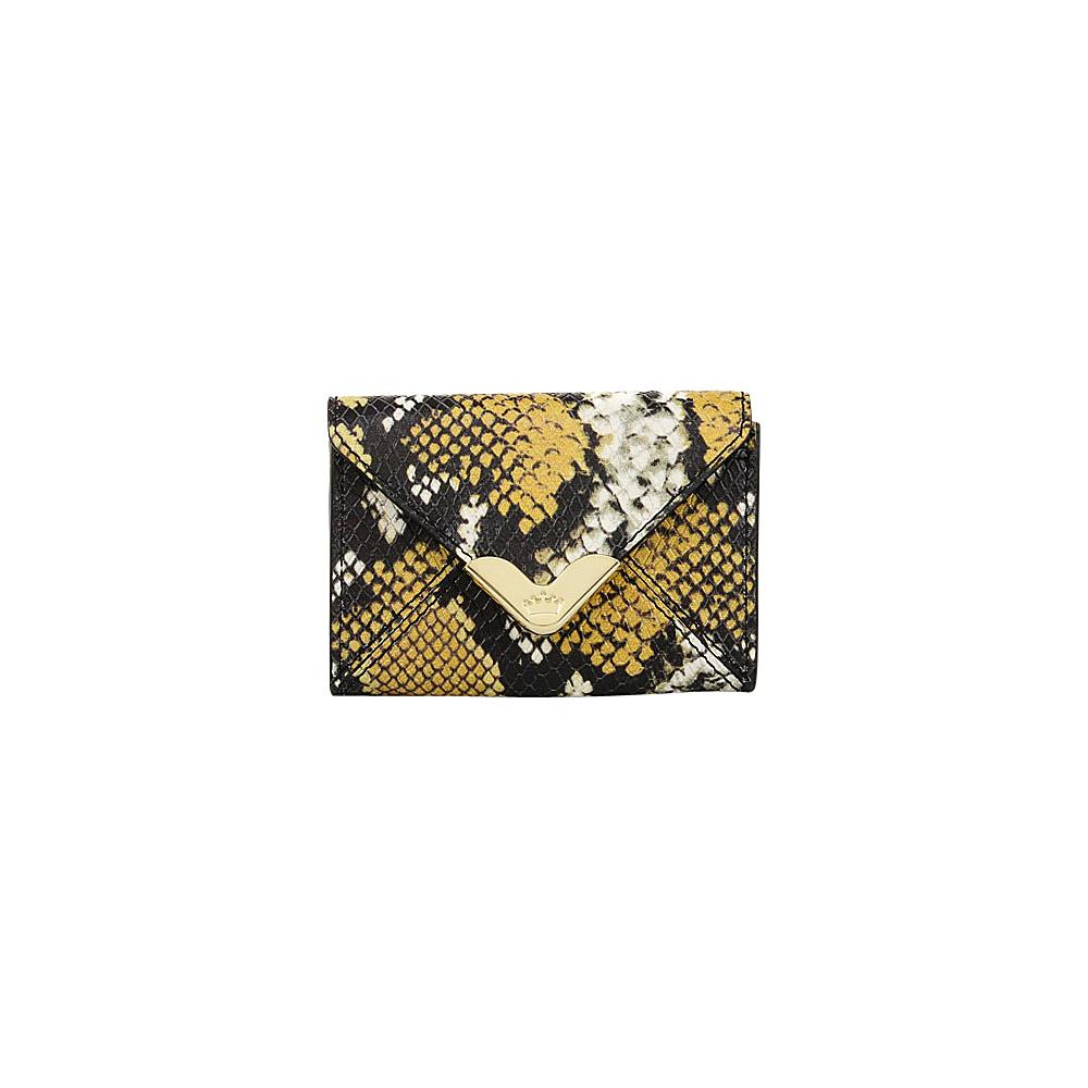 Elaine Turner Business Card Case Golden Ocre Python Elaine Turner Women s SLG Other