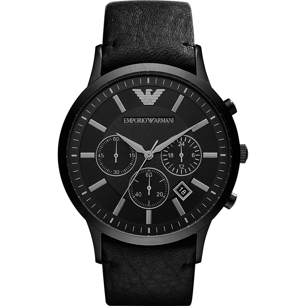 Emporio Armani Sportivo Watch Black Emporio Armani Watches