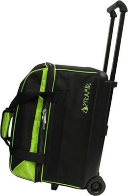 Pyramid Prime Double Roller Bowling Bag Lime Green - Pyramid Bowling Bags
