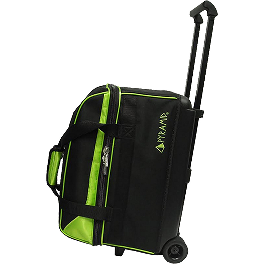 Pyramid Prime Double Roller Bowling Bag Lime Green Pyramid Bowling Bags