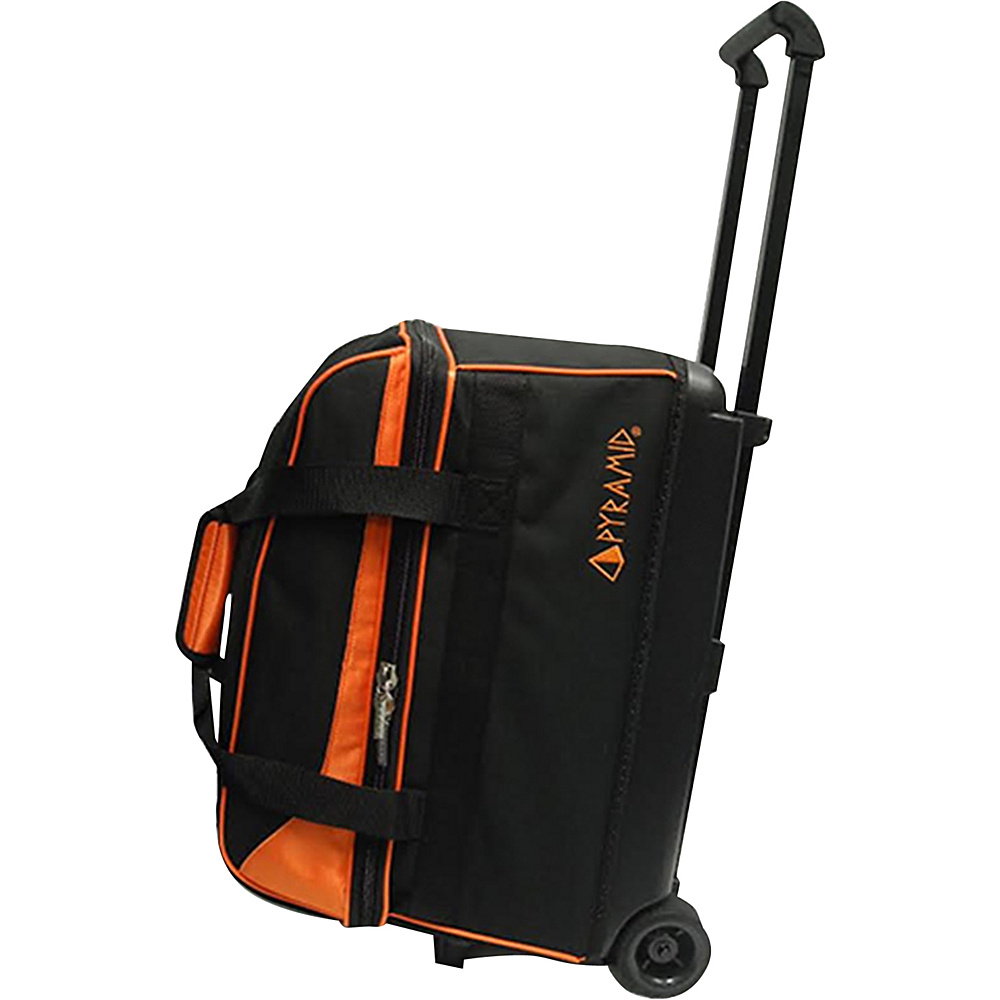Pyramid Prime Double Roller Bowling Bag Orange Pyramid Bowling Bags