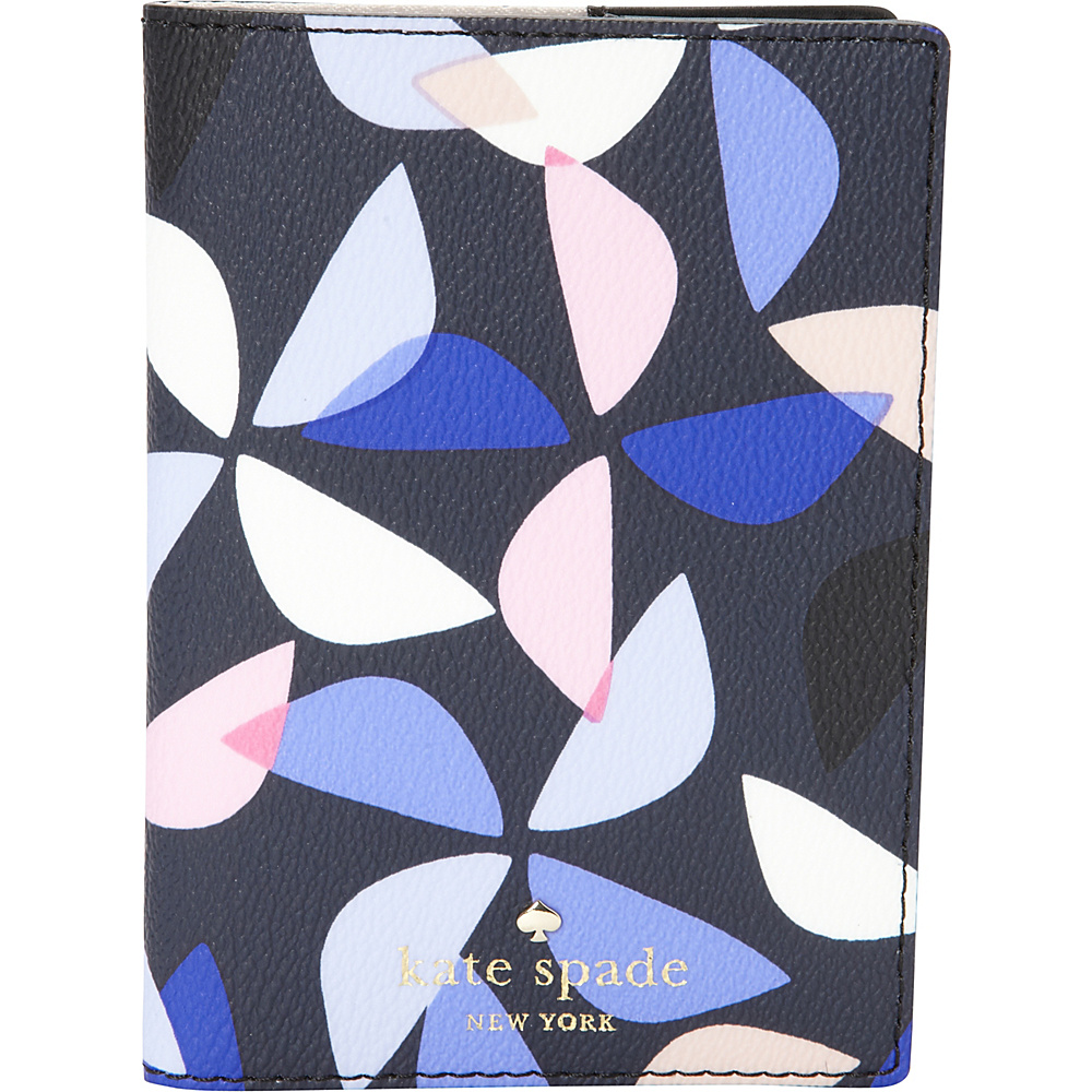 kate spade new york Hawthorne Lane Pinwheel Passport Holder Rich Navy Multi kate spade new york Travel Wallets