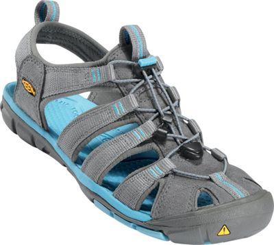 KEEN Womens Clearwater CNX Sandal 7.5 - Gargoyle / Norse Blue - KEEN Women's Footwear