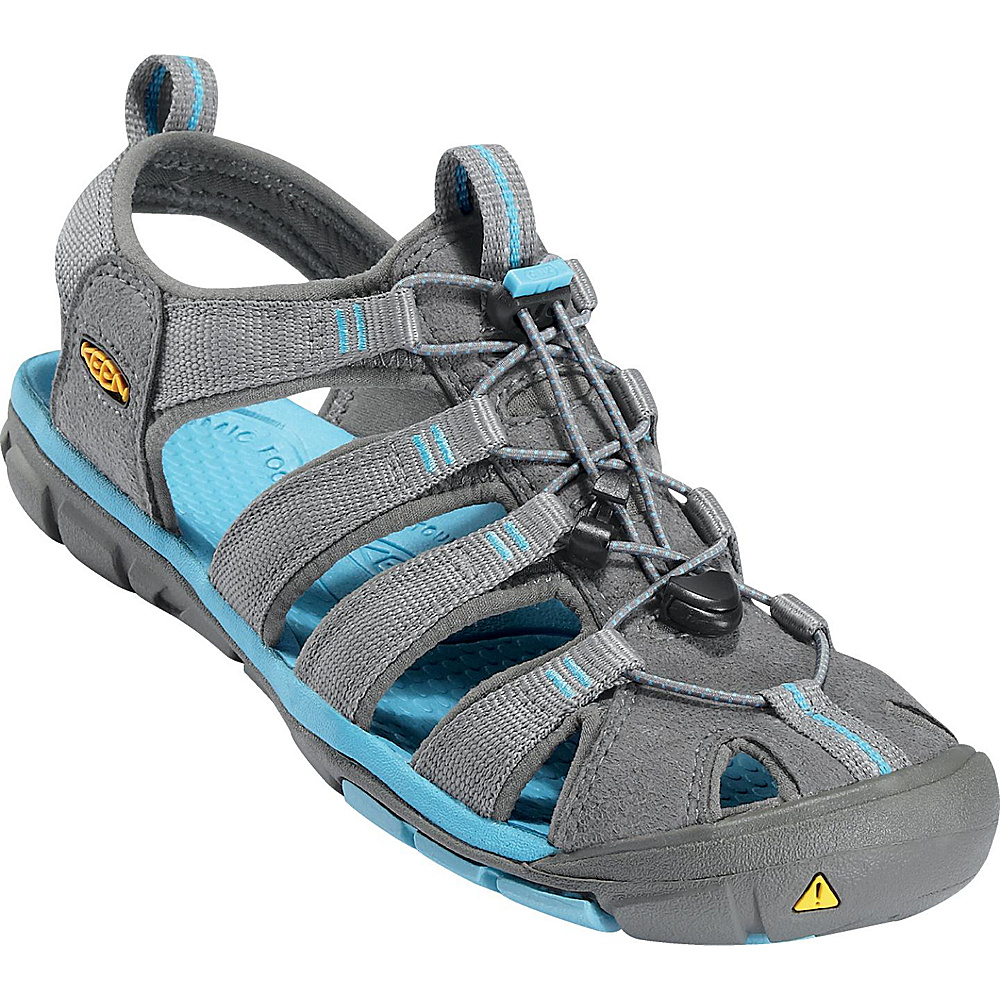 KEEN Womens Clearwater CNX Sandal 10.5 - Gargoyle / Norse Blue - KEEN Womens Footwear - Apparel & Footwear, Women's Footwear