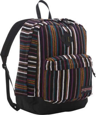 JanSport Super FX Series Backpack- Sale Colors Multi Surf Stripe - JanSport Everyday Backpacks