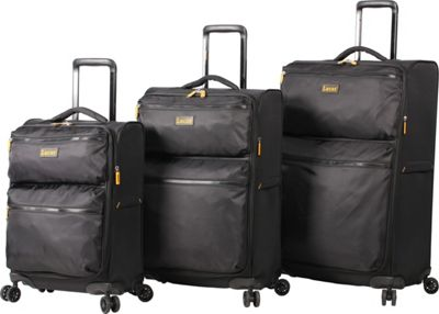 LUCAS Ultra Light Weight Originals 3 PC Spinner Collection Black - LUCAS Luggage Sets