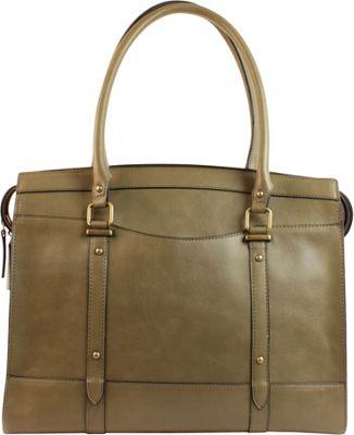 Emilie M Emma Double Shoulder Bag Olive - Emilie M Manmade Handbags