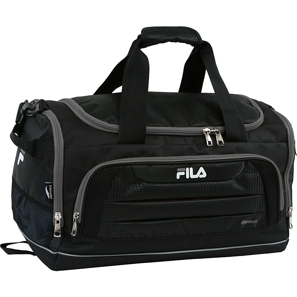 Fila Cypress Small Sport Duffel Bag Black Grey Fila Gym Duffels