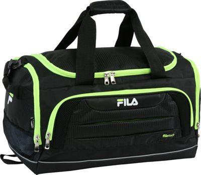 Fila Cypress Small Sport Duffel Bag Black/Neon Green - Fi...