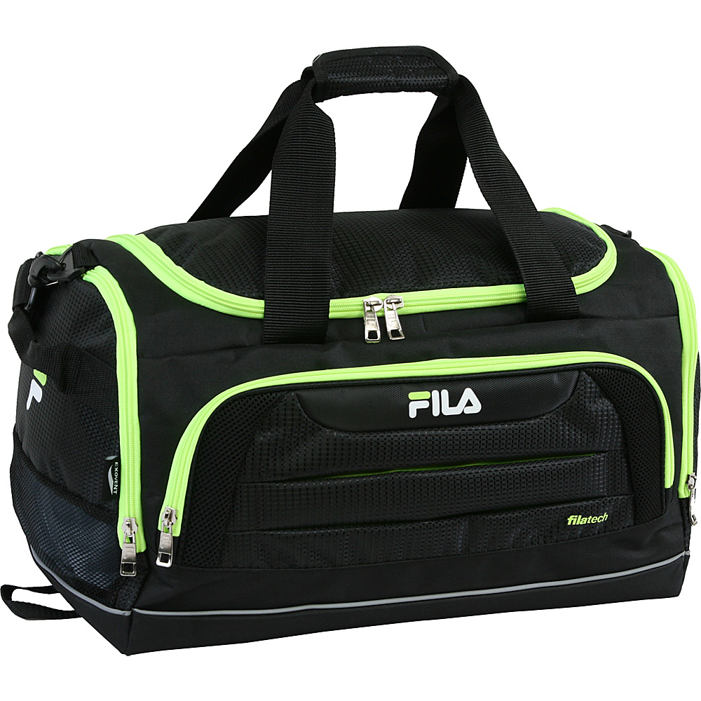 Fila Cypress Small Sport Duffel Bag Black Neon Green Fila Gym Duffels