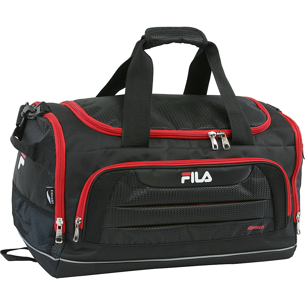 Fila Cypress Small Sport Duffel Bag Black Red Fila Gym Duffels