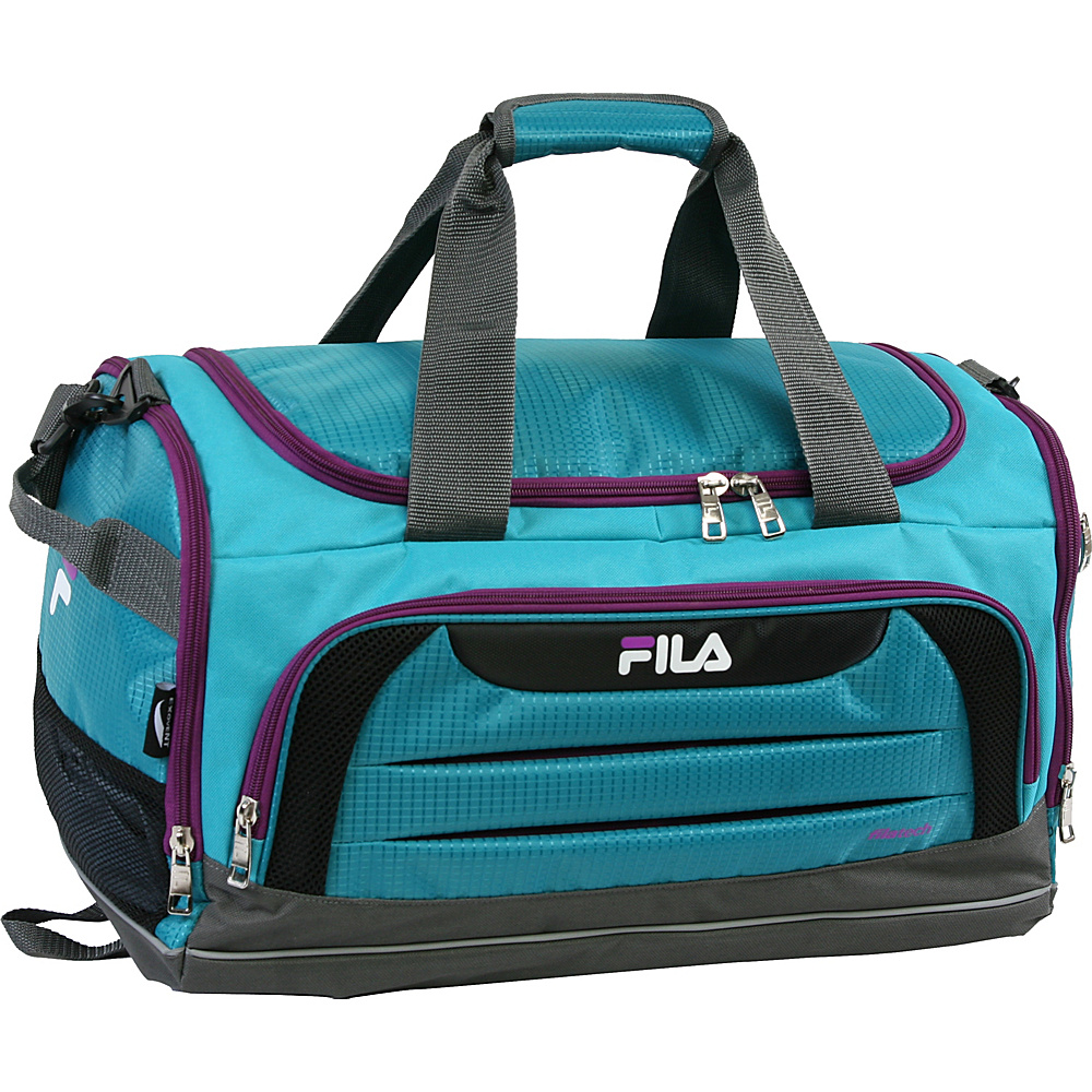 Fila Cypress Small Sport Duffel Bag Teal Purple Fila Gym Duffels