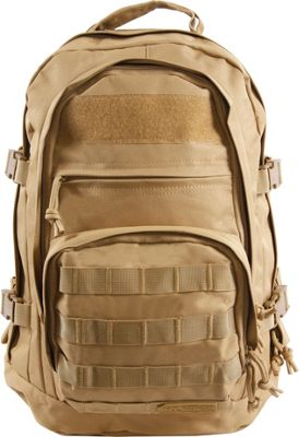 Highland Tactical Basecamp Heavy Duty Tactical Backpack Tan - Highland Tactical Day Hiking Backpacks