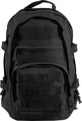 Highland Tactical Basecamp Heavy Duty Tactical Backpack Black - Highland Tactical Day Hiking Backpacks
