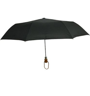 London Fog Umbrellas Fashion Mini Auto Open Umbrella Black - London Fog Umbrellas Umbrellas and Rain Gear