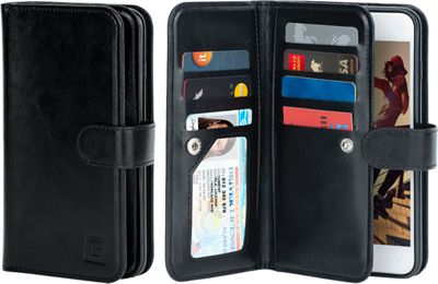 Gear Beast Dual-Folio Wallet iPhone 7 Plus Case Black - iPhone 7 Plus - Gear Beast Electronic Cases